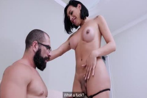 yummy First Time Sex With busty tgirl hottie